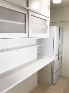 オーダー 注文 造作 家具 神戸 大阪 キッチン 食器棚 収納 カウンター
