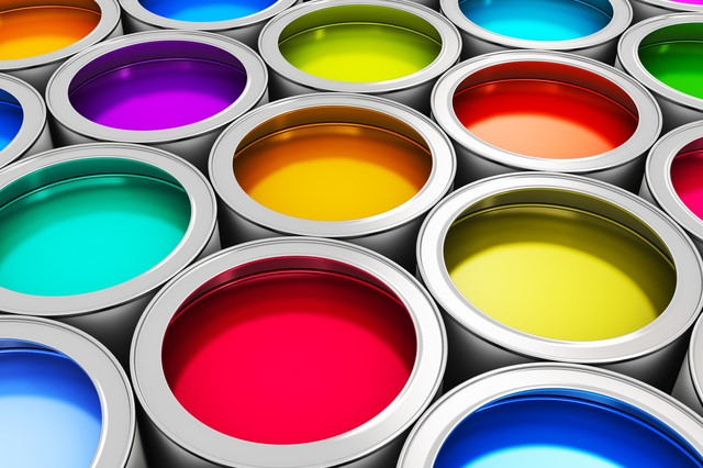 Color paint cans