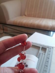 赤メノウ水晶ブレス