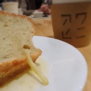 アワヒニのコーヒーと米粉で作られたシフォンケーキ