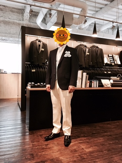 新郎オーダージャケット・ベスト・パンツ・ウィングカラーシャツ大阪