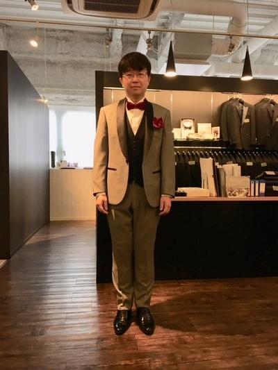 オーダー新郎タキシードセット大阪梅田