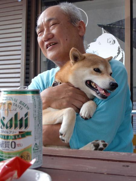 看板犬 タロウと武本さん