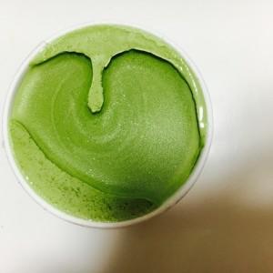 アイスクリームがハートの形に