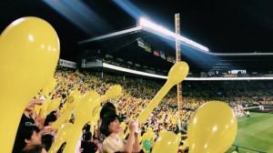 阪神甲子園球場での野球観戦