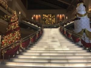 ユニバーサル・タワーのクリスマスバージョン