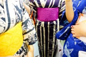 大阪PL花火大会浴衣を着て鑑賞
