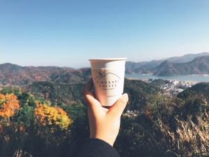 大自然の中のコーヒー
