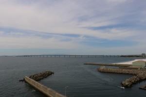 関西国際空港が見える大阪湾