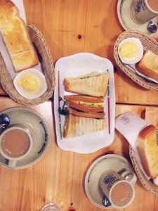 コメダ コメダ珈琲 モーニング トースト カフェオレ 新大阪 美味しい朝ごはん 朝活