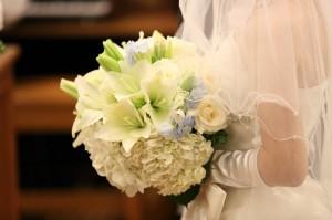 結婚式のブーケをお花屋さんとお打ち合わせ