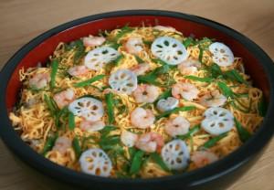 ひなまつり ちらし寿司 お祝い パーティー 実家 家族