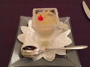 オペラ・ドメーヌ高麗橋さんの自家製おまかせ季節の口直し シャンパンの雫