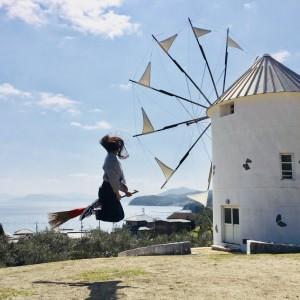 『魔女の宅急便』のギリシャ風車♪
