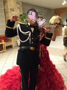陸上自衛隊の礼服で結婚式♪