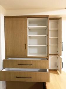 オーダー 家具 神戸 大阪 キッチン 収納 食器棚 カップボード