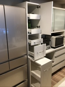 オーダー 造作 家具 大阪 神戸 キッチン 収納 ワゴン
