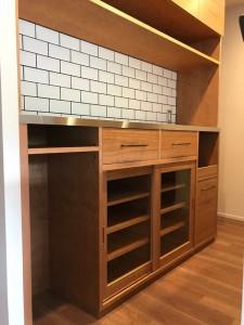 オーダー 造作 注文 家具 大阪 神戸 キッチン 食器棚 カップボード 収納