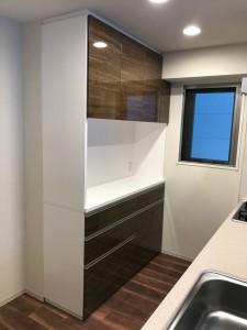 オーダー 造作 家具 大阪 神戸 キッチン 収納 カップボード 食器棚