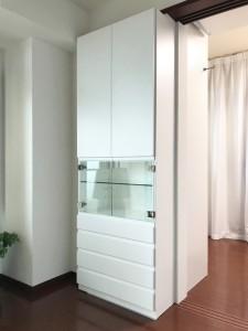 オーダー 家具 神戸 大阪 収納 飾り棚 アクセサリーケース キュリオケース