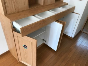 家具工房アートワークス オーダー家具 神戸 大阪 チェスト リビング 収納