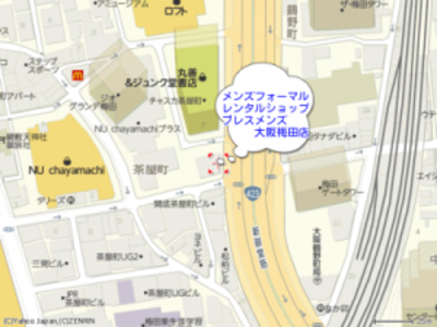 メンズフォーマルレンタルショップブレスメンズ大阪店