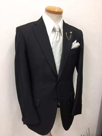 イタリア製カノニコ貸衣装ブラックスーツ大阪