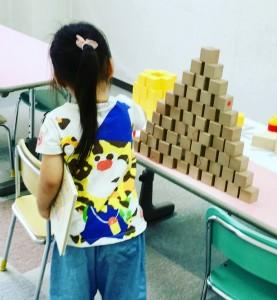 大きなピラミッドができました