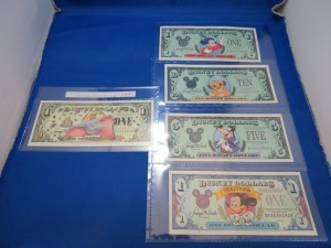 アメリカ ディズニーダラー紙幣をお買取りさせて頂きました。