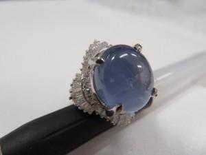 大きなスターサファイヤのリングをお買取りさせて頂きました。
