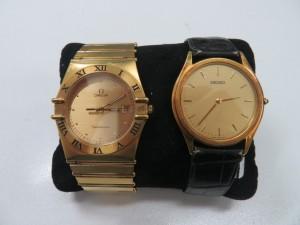 オメガコンステーション・SEIKOクオーツ 紳士腕時計お買取りさせて頂きました。
