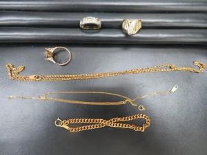 本日は貴金属ダイヤ付リング・ブレスレット・ネックレスをお持ち頂きました。