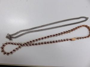 プラチナとK18のネックレスをお買取させて頂きました。