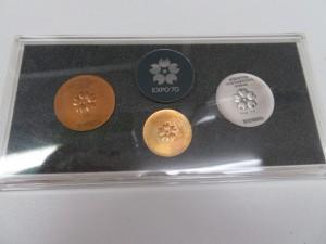 エキスポ記念 金・銀・銅 メダルをお買取りさせて頂きました。