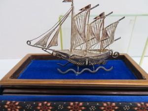 銀製品 銀で作られたヨットをお買取りさせて頂きました。