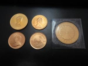 本日は金貨をお買取りさせて頂きました。