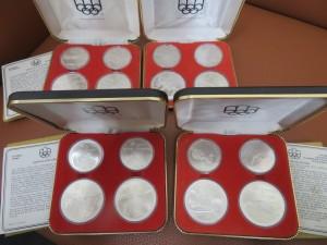 オリンピック銀貨・金貨をお買取りさせて頂きました。
