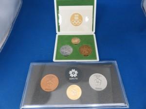 東京オリンピック・EXPO70の記念メダルをお買取させて頂きました。