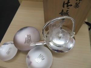 純銀製品 御銚子・盃 お買取りさせて頂きました。
