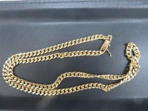 本日は貴金属18金の喜平ネックレスをお持ち頂きました。