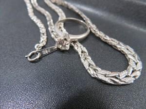 プラチナアクセサリー ダイヤリングをお買取りさせて頂きました。