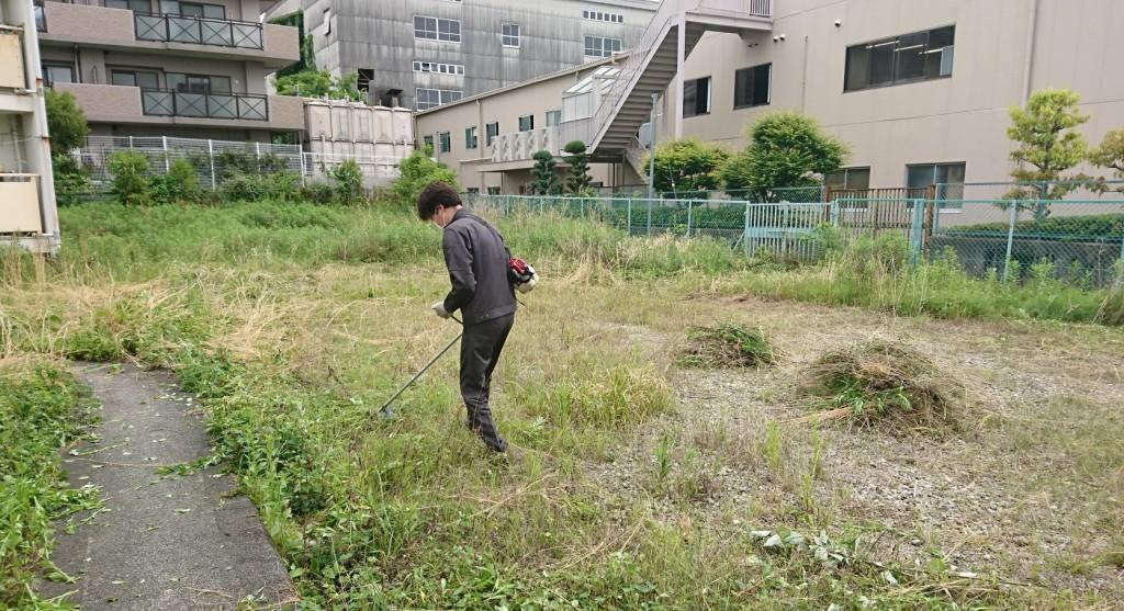 寮の草刈り②
