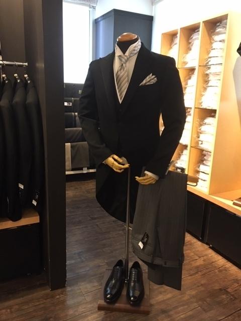 モーニングコートの着用方法 大阪梅田