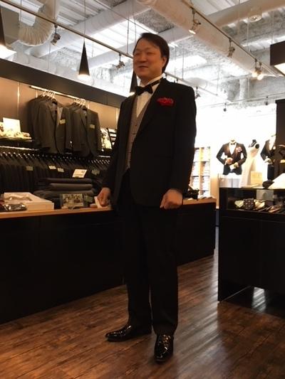 #新郎オーダーベストにオーダーウィングカラーシャツ大阪