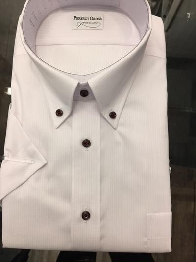 半袖釦ダウンオーダーシャツ大阪 梅田