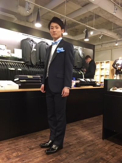 オーダータキシード国産縫製でお買い得 大阪梅田