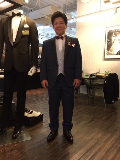 新郎衣装オーダータキシード御買上げ大阪