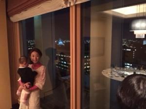 東天紅からの大阪城のマッピング