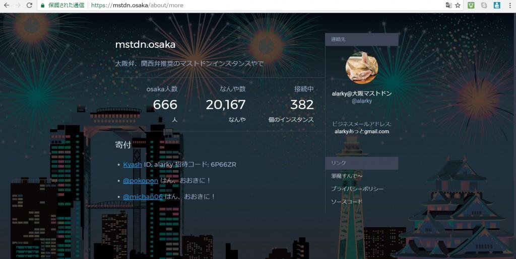 マストドン大阪 mastodon