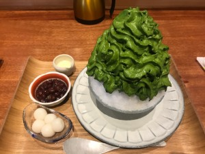 奈良県で人気のエスプーマ仕立てのかき氷